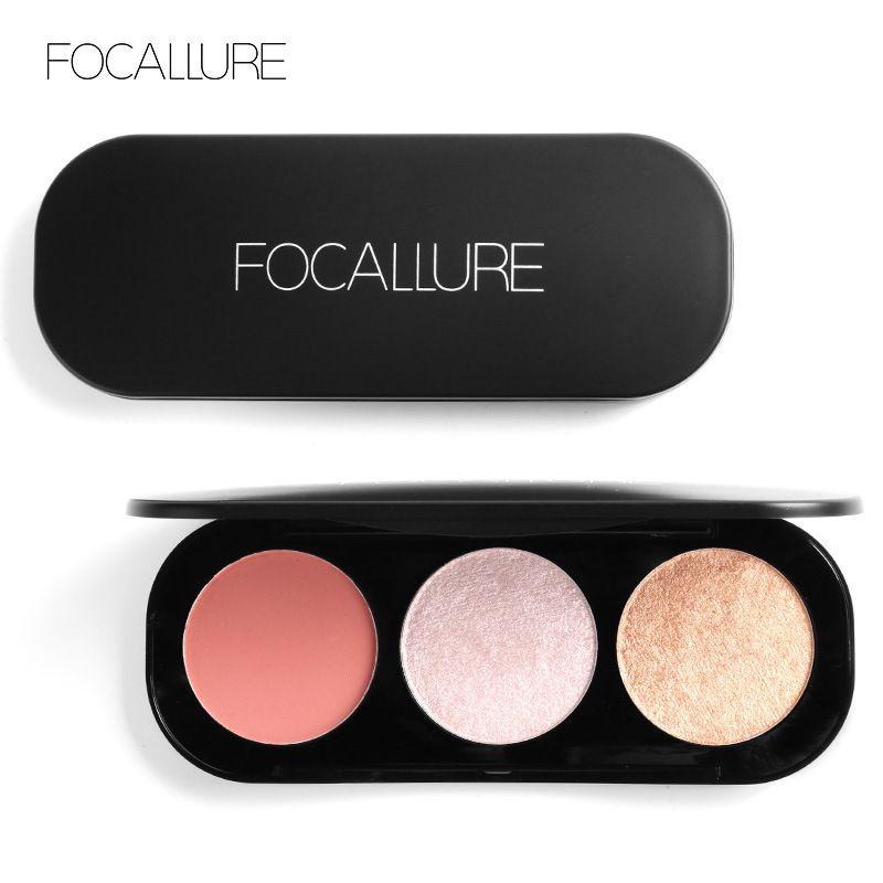 Foacllure 3 Couleurs Surligneur Palette Bronzer Poudre Pour Le Visage Professionnel Glitter Mat Fumé Glamour Nude Beauté Cosmétique FA26