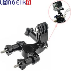 LANBEIKA For Gopro Accessories Motorcycle Bike Handlebar Seatpost Pole Mount 3 Ways Pivot Arm For SJCAM SJ6 SJ7 M20 Gopro 5 4 3+