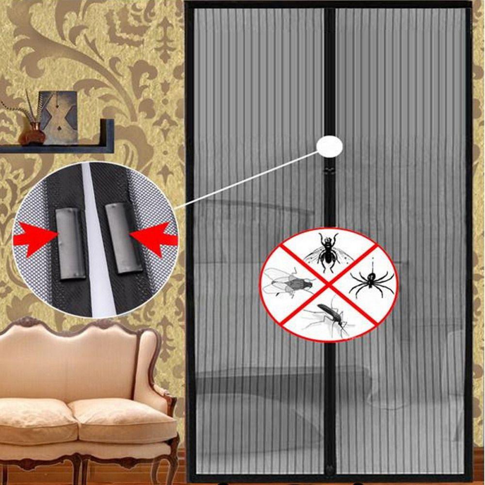 5 tailles moustiquaire rideau aimants porte maille insecte mouche filet avec aimants sur la porte maille écran aimants chaud