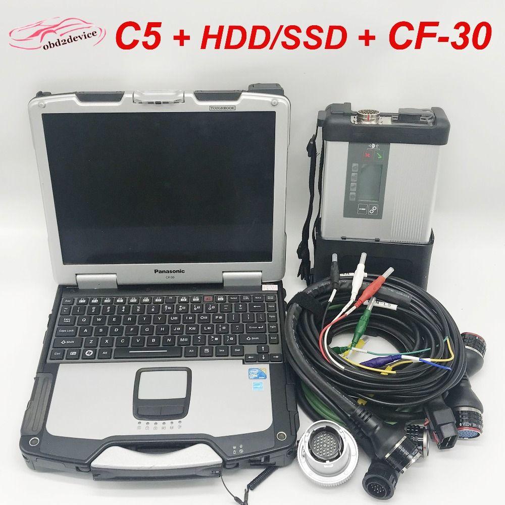 Top Qualität MB STAR C5 und CF30 Laptop mit 2018,12 Software HDD/SSD Auto Scanner Multiplexer SD Verbinden C5 bereit zu verwenden