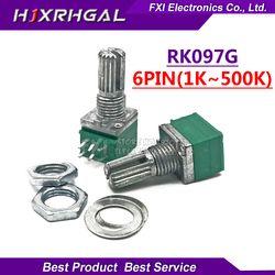 5 pcs RK097G 5 K 10 K 20 K 50 K 100 K 500 K B5K avec un commutateur audio 6pin arbre 15mm amplificateur d'étanchéité potentiomètre