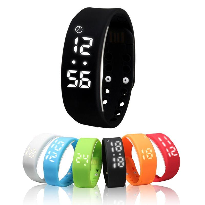 W2 Bracelet intelligent affichage du temps montre intelligente avec calories 3D podomètre température moniteur de sommeil Bracelet étanche wach