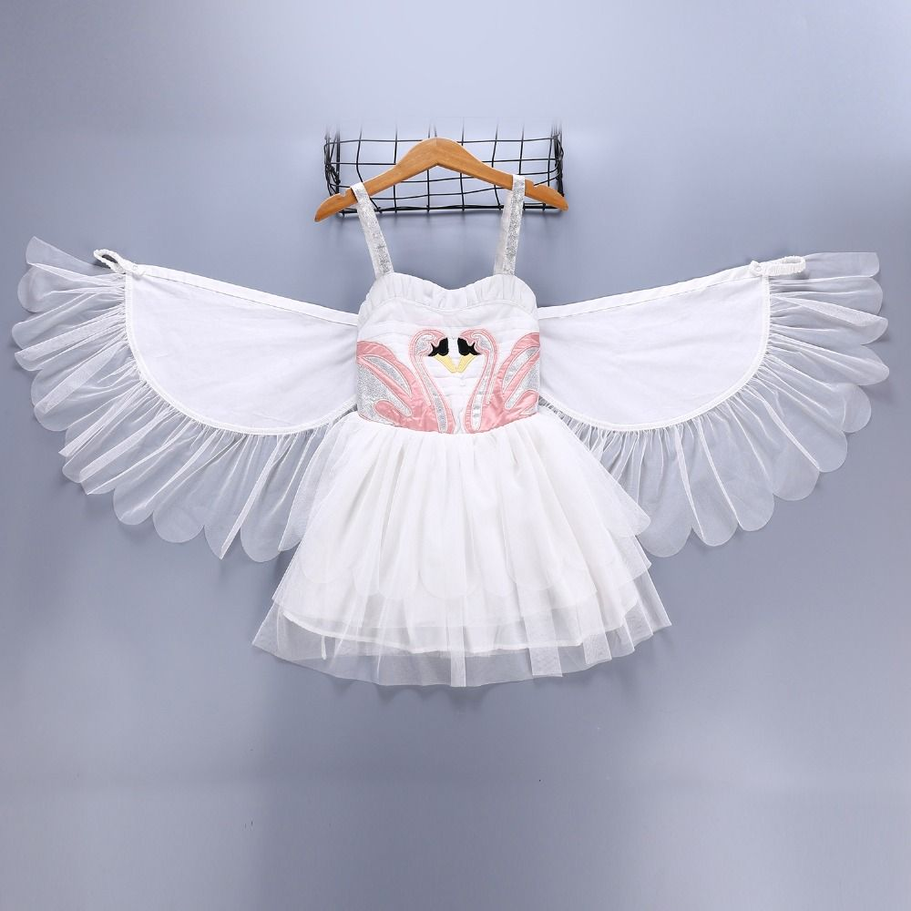 2018 baby Girls flamingo Tutu Dresses with moveable Wing Children Birthday Dance Princess party Dress Halloween Costumes L182