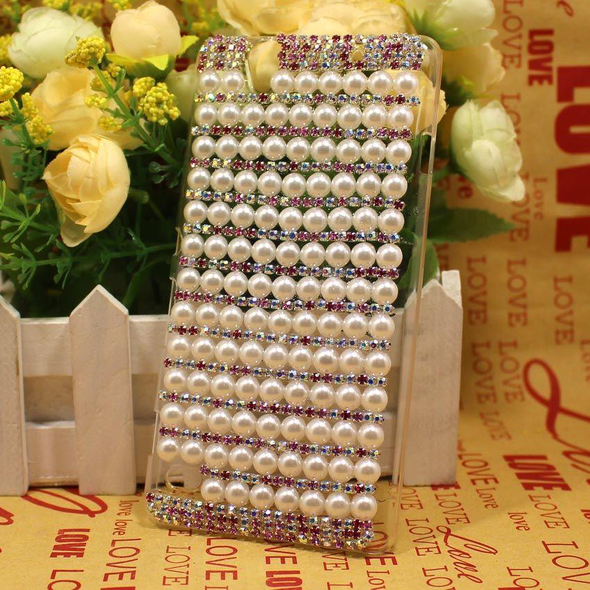 For Sony Xperia C4 Case Bling Pearl Colorful Claw Chain Case Cover For Sony Xperia C4 E5303 E5306 E5353 Dual E5333 E5343 E5363