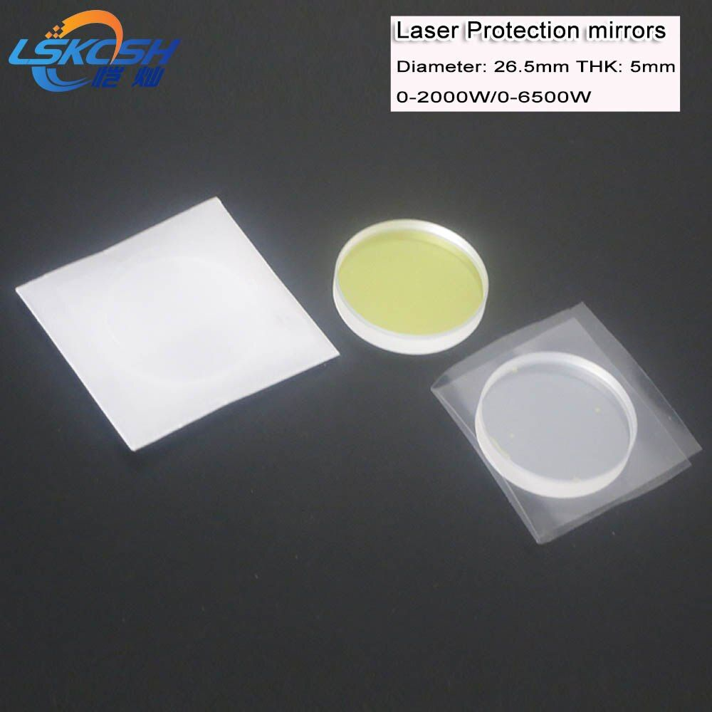 LSKCSH 50 teile/los IPG faserlaser schutz glas schutz spiegel 26,5*5mm 2000 watt 6500 watt faser laser schneiden maschinen agenten