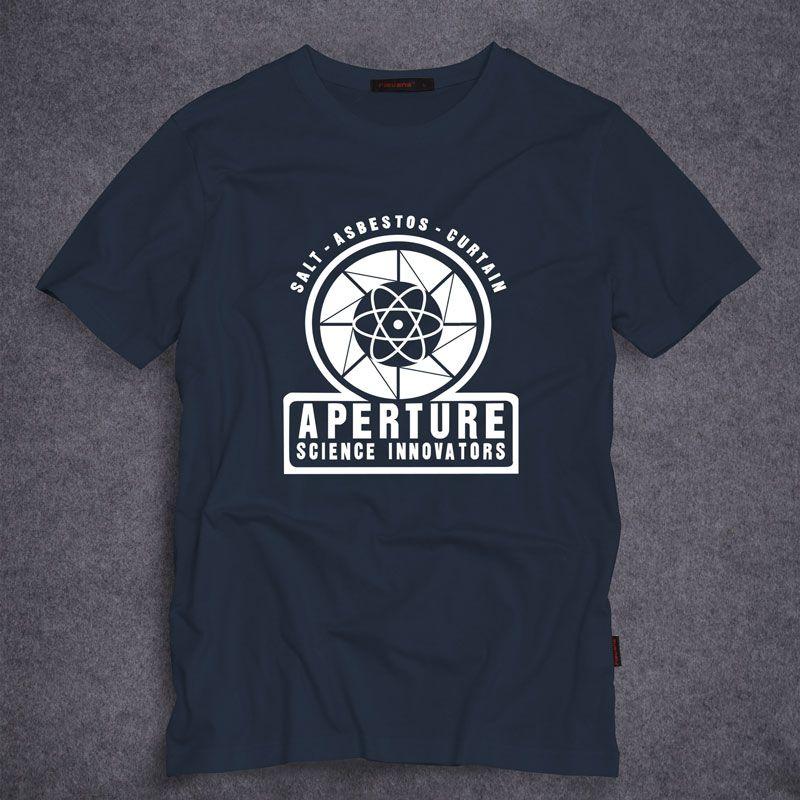 Portal 2 Aperture Laboratories Logo Men's T-shirt Clothing Shirt 100% Cotton Short Sleeve Tshirt S-5XL