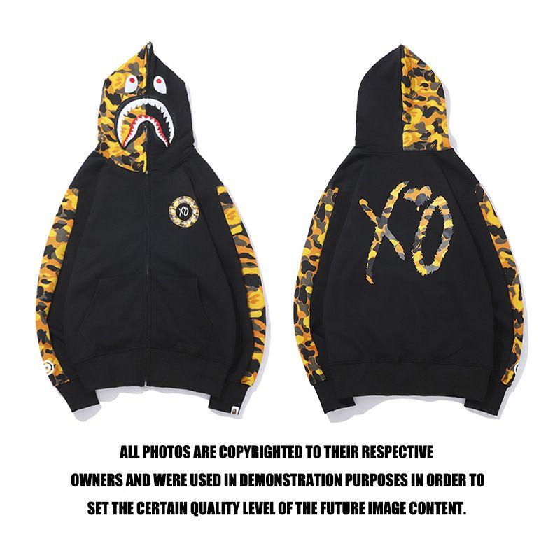Bape shark hoodie sweatshirt co-branded bathing ape