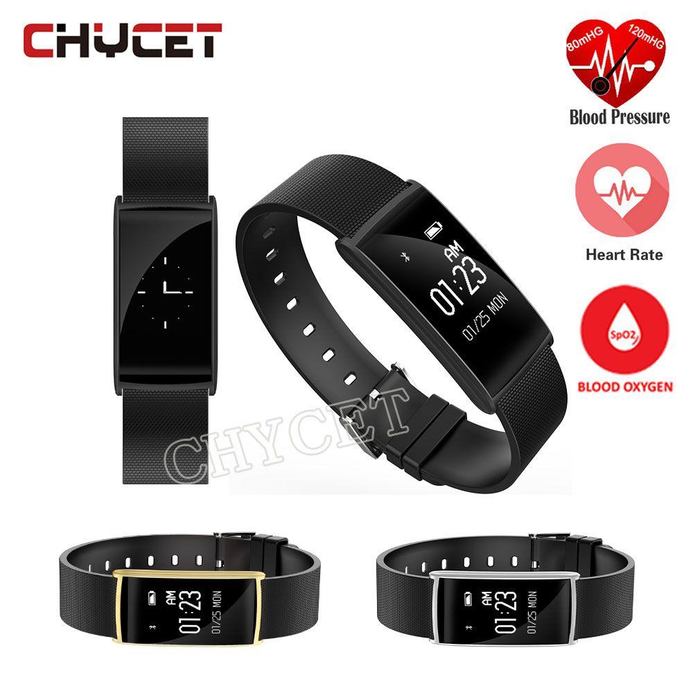 New N108 Bande À Puce Bracelet Moniteur de Fréquence Cardiaque Sang Pression Fitness tracker montre Horloge Podomètre Bracelet pk S1 S2 P1