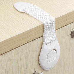10 piezas/1 unid niños seguridad cerraduras de plástico cajón puerta gabinete armario aseo cerraduras de seguridad bebé correa del bebé protección segura Props