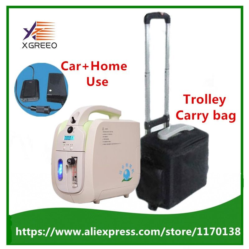 FDA CE Approved Car Use Oxygen Concentrator Generator 110V-240V DC12V Car Adapter Portable Oxygen Machine Home Use Air Purifier