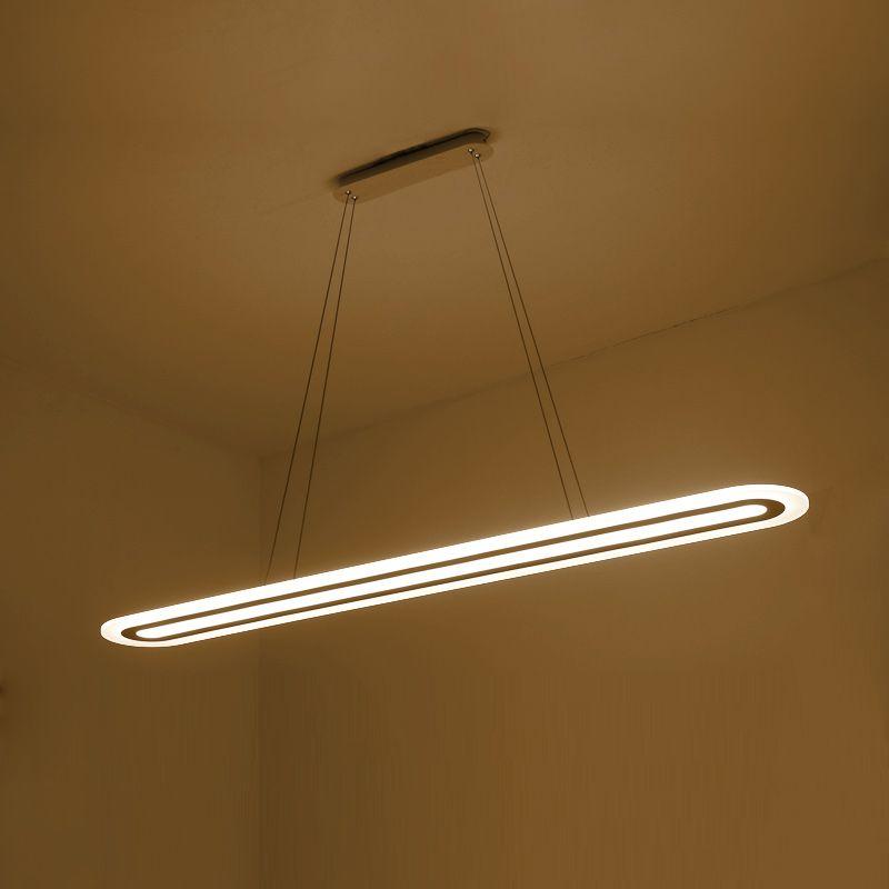 Modern LED Suspension Pendant lights Strip Plexiglass Pendant lamp Home Lighting For Kitchen Dining Room Lamp lustre Fixture