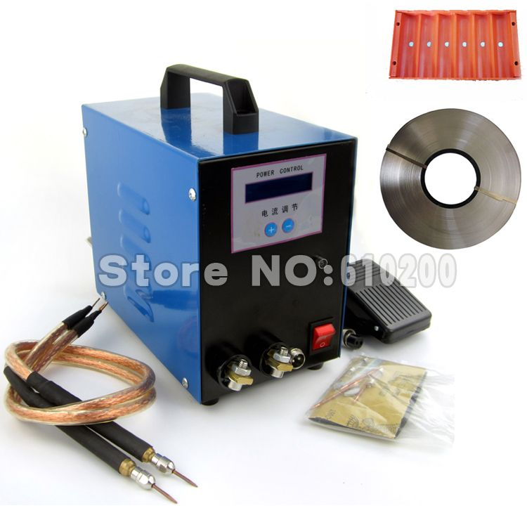 New LCD 18650 battery spot welder machine Pedal control 18650 Handheld pen-input welding machine +5mm 1KG Nickel +Fixture