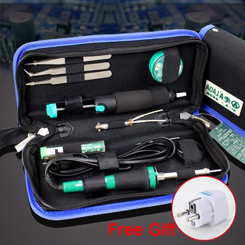 LAOA 11 in 1 Electric Soldering Iron 30W Soldering Iron Circuit board maintenance tools Free Gift Europe adapter plug