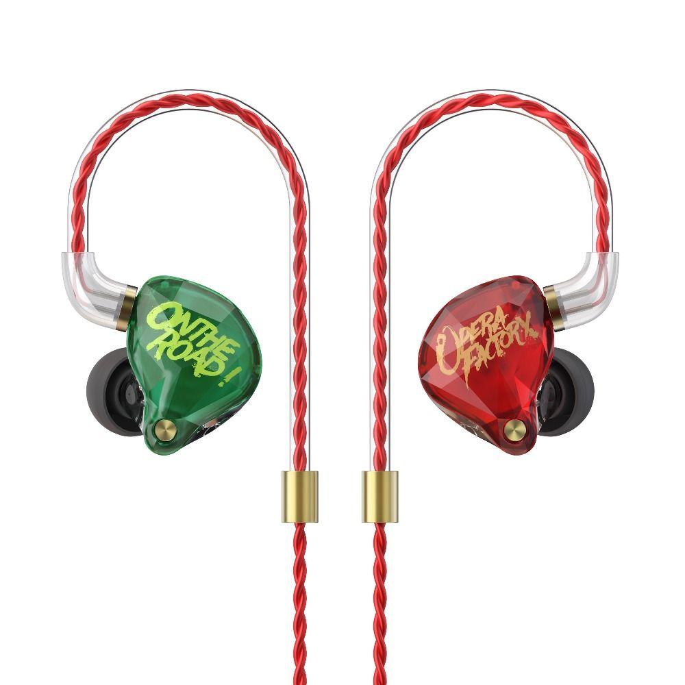 New OF Audio Diamond OM1 Bass DJ Super bass Earphone Headset Earplug 2Pin HIFI Earphone 3.5mm In Ear Earphone Dynamic Drive