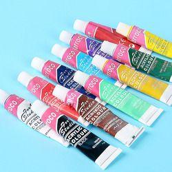 12 цветов Профессиональный акриловый набор красок яркие художественные принадлежности ручная краска ed настенная краска ing текстильная крас...