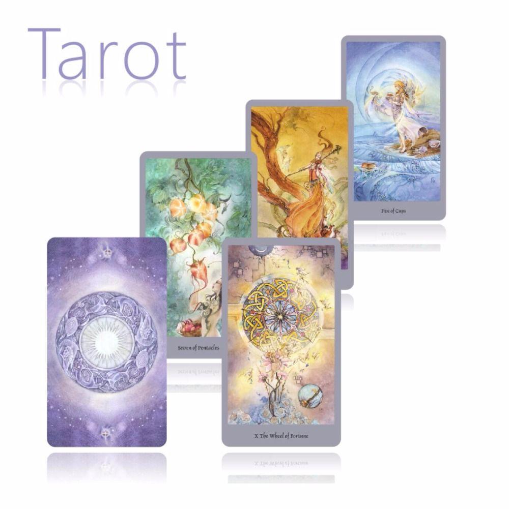 2018 nouvelle version anglaise complète beauté tarot cartes meilleure qualité jeu de société cartes à jouer pour le jeu de cartes de fête