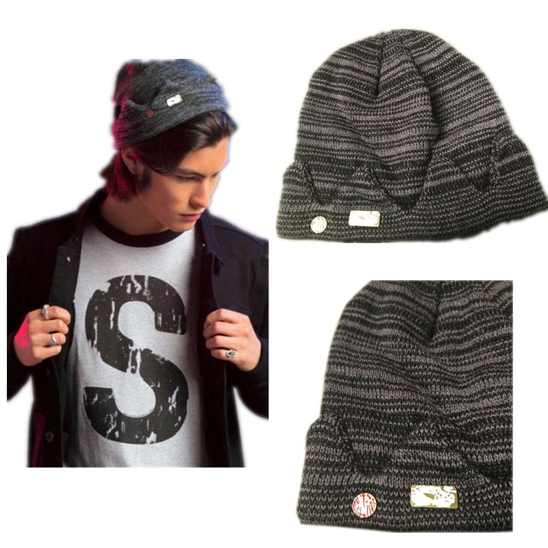 In stock Jughead Jones Riverdale Cosplay Beanie Hat Hot Topic Exclusive <font><b>Crown</b></font> Knitted Cap
