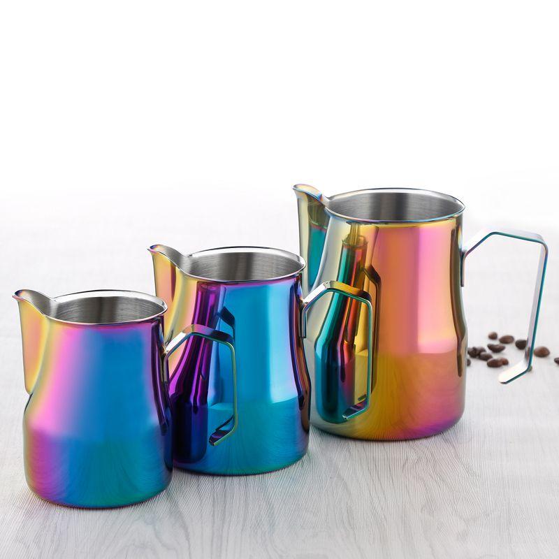 New Style Multicolor Milk frothing jug Espresso Coffee Pitcher Barista Craft Coffee Latte Stainless Steel Espresso Milk Jug
