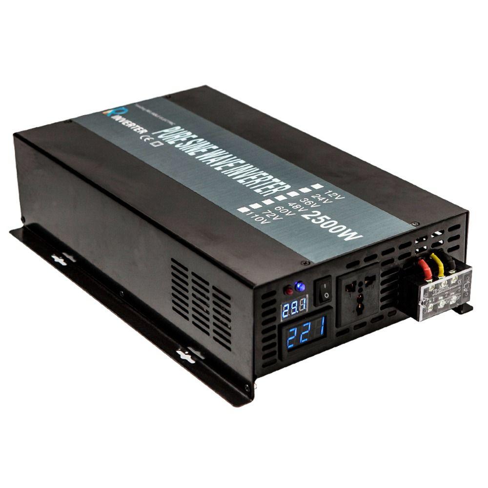 Reine Sinus Welle Inverter 2500 watt Solar Power Inverter 24 v zu 220 v Netzteil Transformator 12 v/ 36 v/48 v DC zu 110 v/120 v/230 v/240 v AC