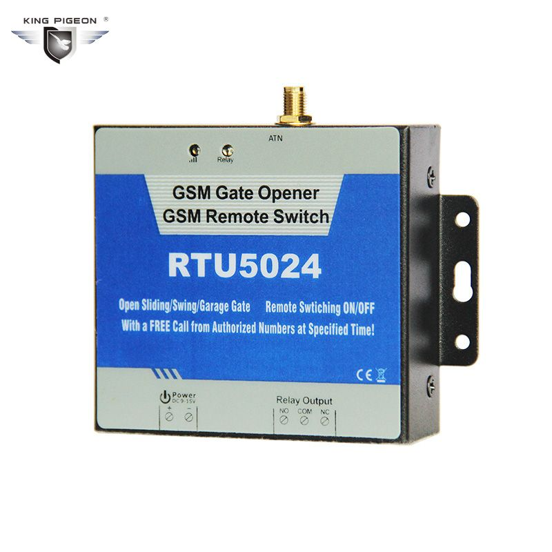 3G GSM RTU5024 Gate Opener Relay Switch Free Phone Call Security Alarm System for Automatic Door GSM Opener Garage Defend