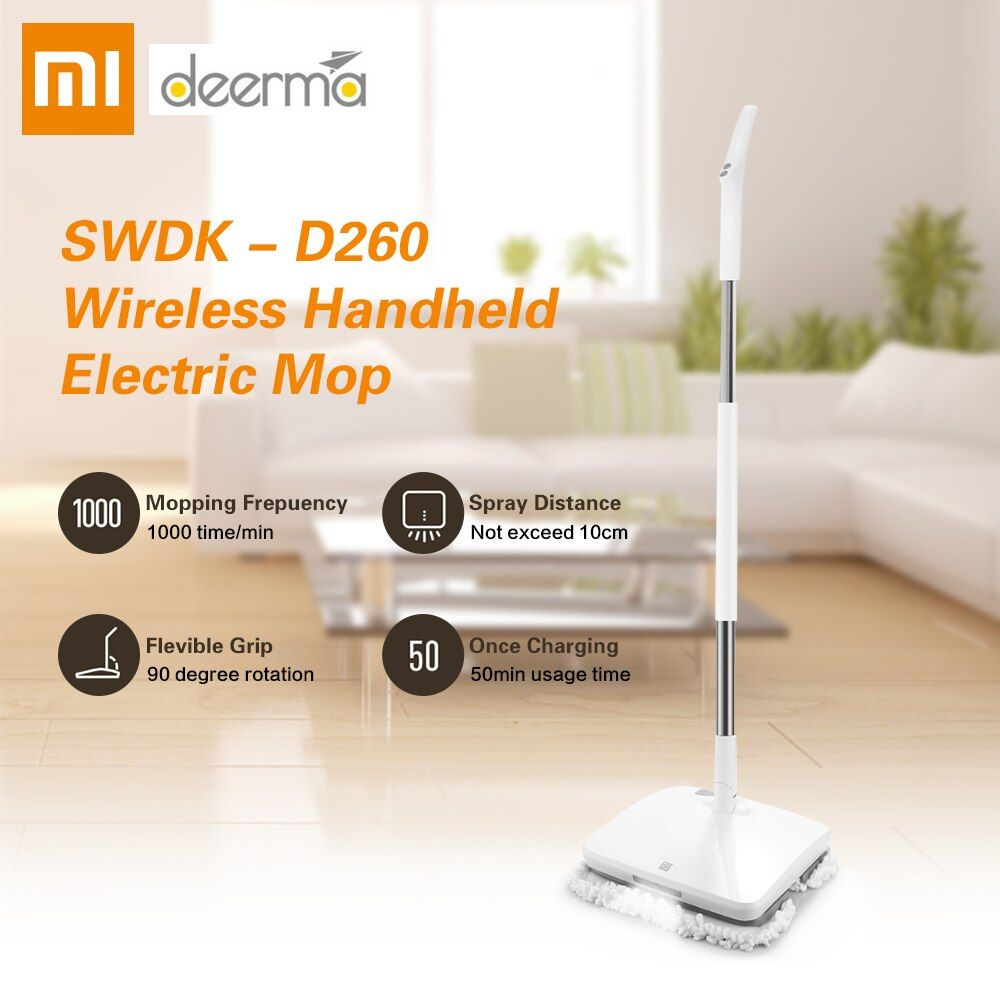 Xiaomi SWDK-D260 Handheld Drahtlose Elektrische Wischer Boden Scheiben Nass Wischen LED Licht Reinigung Maschine pinsel Boden Washer