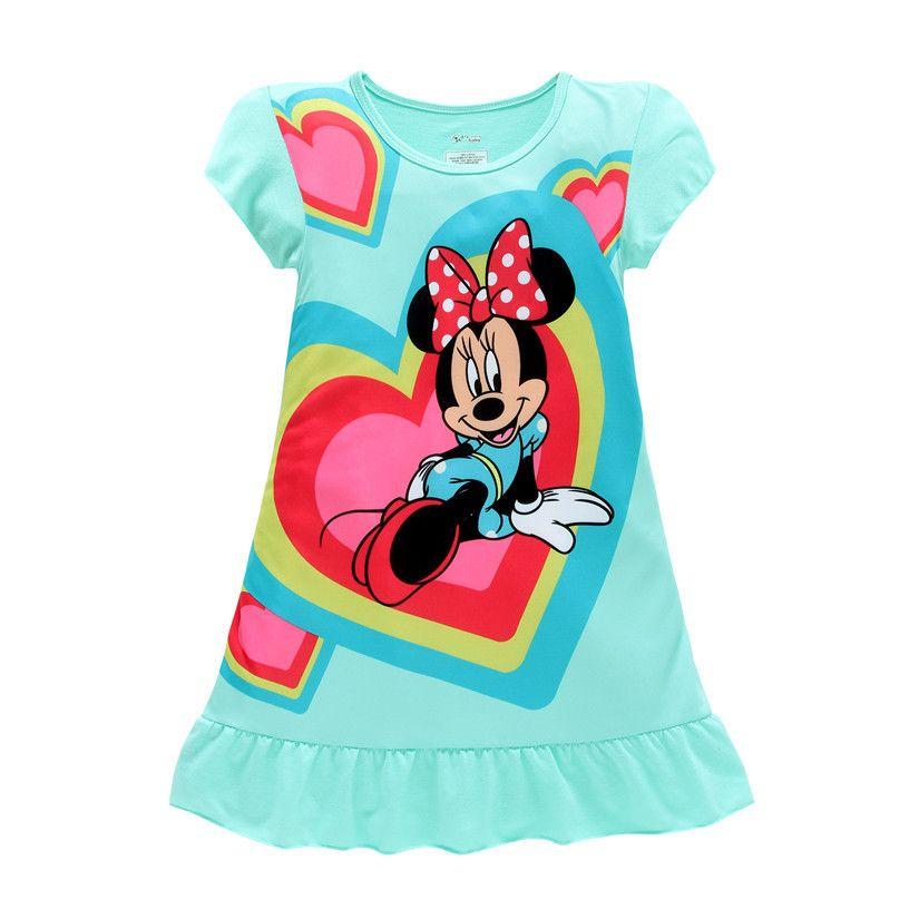 2016 Vestidos de Las Muchachas Del Ratón de Minnie Sofia Elsa Anna niños pijamas camisones ropa de dormir ropa de la princesa 4 5 6 7 8 9 años