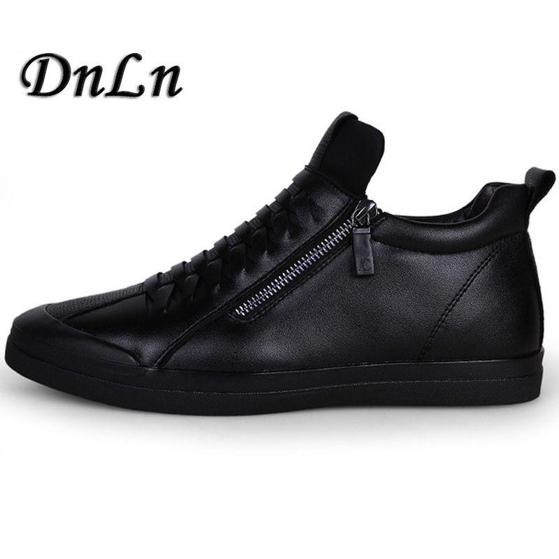 2018 High Quality Men Flats Shoes Breathable Fashion Men Casual Shoes Zapatos Hombre Mens Sneakers Black ZT30