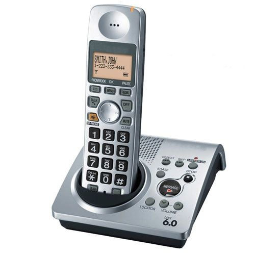 Hot selling digital telephone KX-TG1031S 1 Handset  1.9 GHz DECT 6.0  digital Cordless telephone with  Answering system
