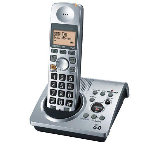 Vente chaude numérique téléphone KX-TG1031S 1 Combiné 1.9 GHz DECT 6.0 téléphone Sans Fil numérique avec répondeur