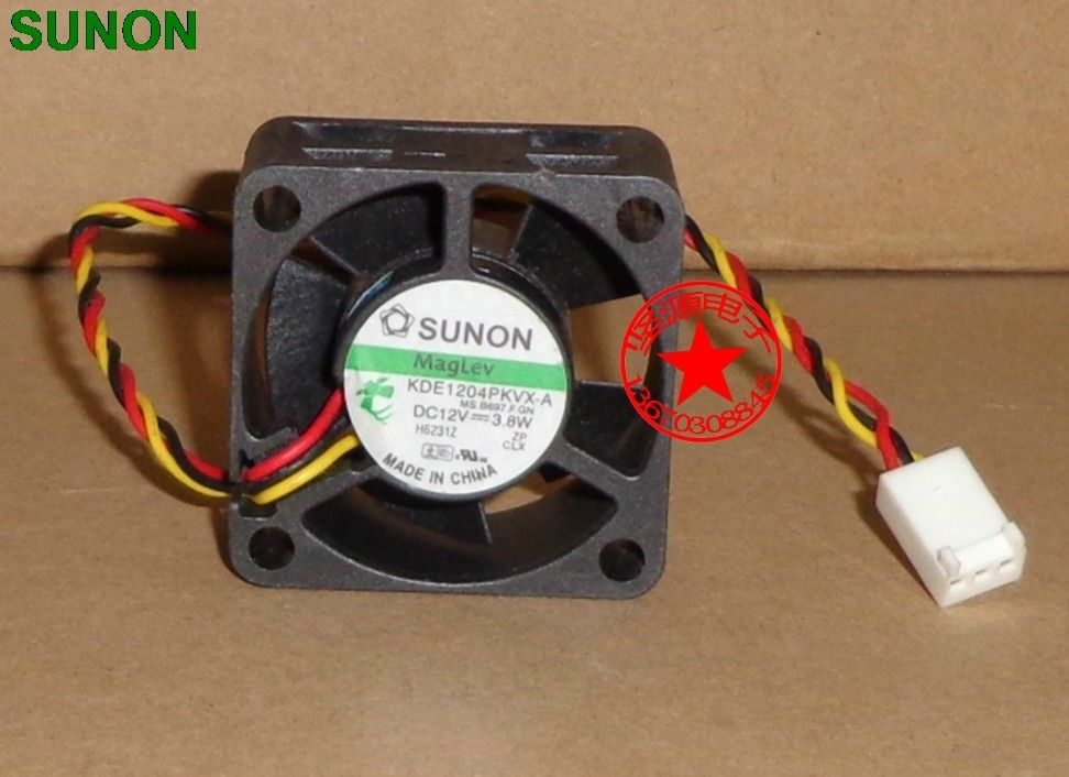 SUNON 4020 40mm x 40mm x 20mm KDE1204PKVX-A Maglev Cooler Cooling Fan 12V 3.8W 3Wire 3Pin Connector for Router 4CM
