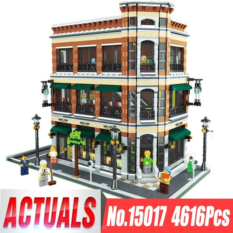 Lepin 15017 4616Pcs Creator Expert Starbucks Cafe Bookstore Model Building Kits Birthday Toy Compatible With Legoing 10243