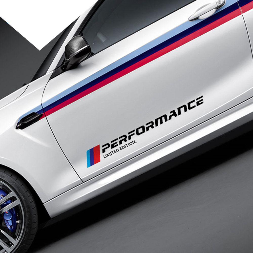 Voiture style M performance porte côté corps autocollant décoration Logo décalque pour bmw e46 e90 e60 e39 f30 f34 f10 e70 e71 x5 f15 e30