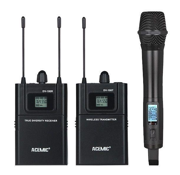 ACEMIC UHF 740-770MHz True diversity Wireless Mic handheld Microphone Camera SLR