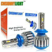 Cnsunnylight автомобиля светодио дный фары H7 H4 H1 H3 H11/H8 HB3/9005 HB4/9006 880 H13 9004 9007 7000LM яркий белый Замена светодио дный лампы
