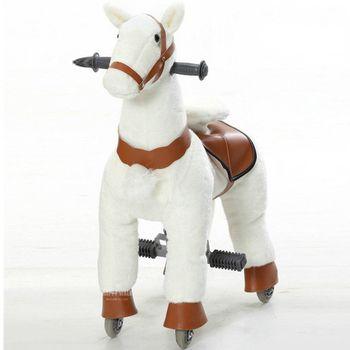 M Size Children Mechanical Walking Ride on Horse Toy Rocking Animals Ride Plush Toys Hobby Horse Pony Scooter Kid Christmas Gift