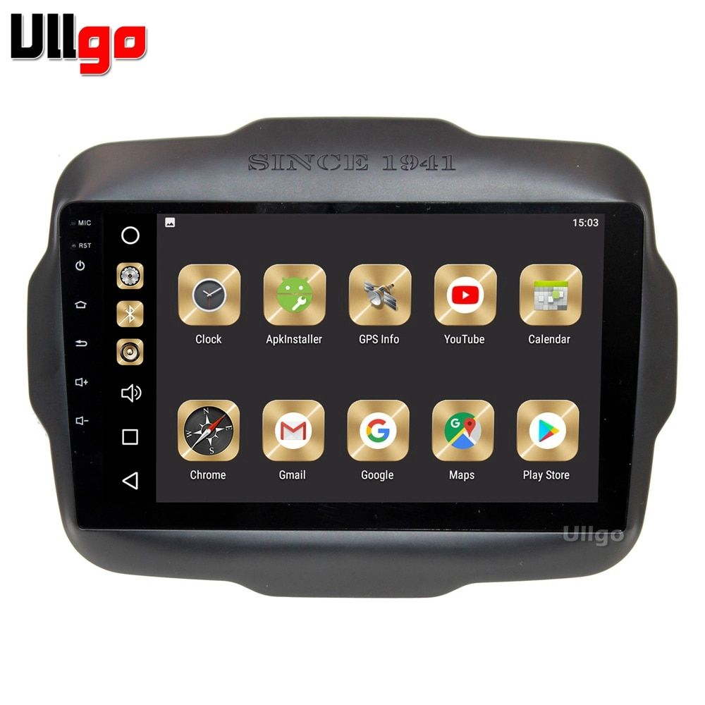 9 inch 4G+32G Android 8.0 Car DVD GPS for JEEP RENEGADE Autoradio GPS Car Head Unit with Radio RDS BT Mirror-link Wifi