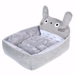 Nuevo gato de dibujos animados camas y esteras caliente acogedor Soft Fleece cama sofá para pequeñas mascotas perros gatos lavable gato gatito kitty casas productos para mascotas