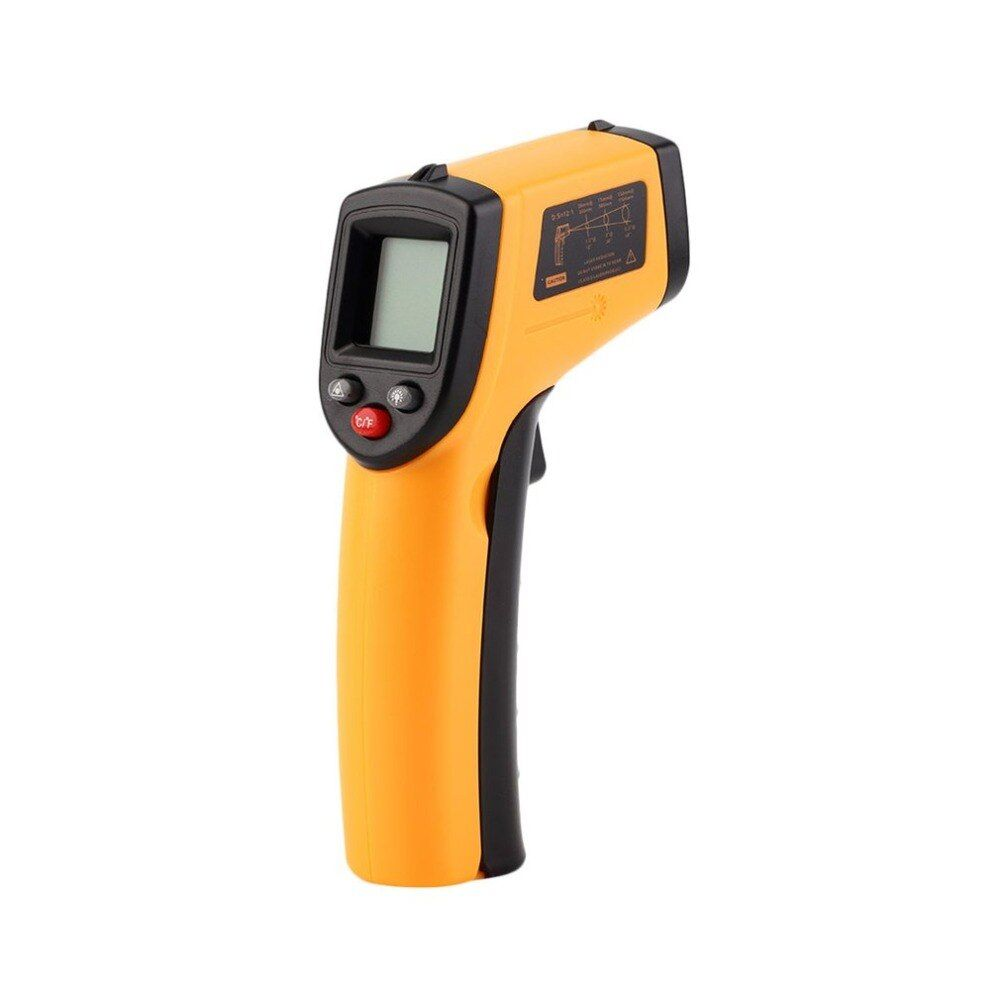 Thermomètre infrarouge numérique LCD sans Contact pistolet infrarouge Point Laser infrarouge thermique imagerie thermique pyromètre portatif de température