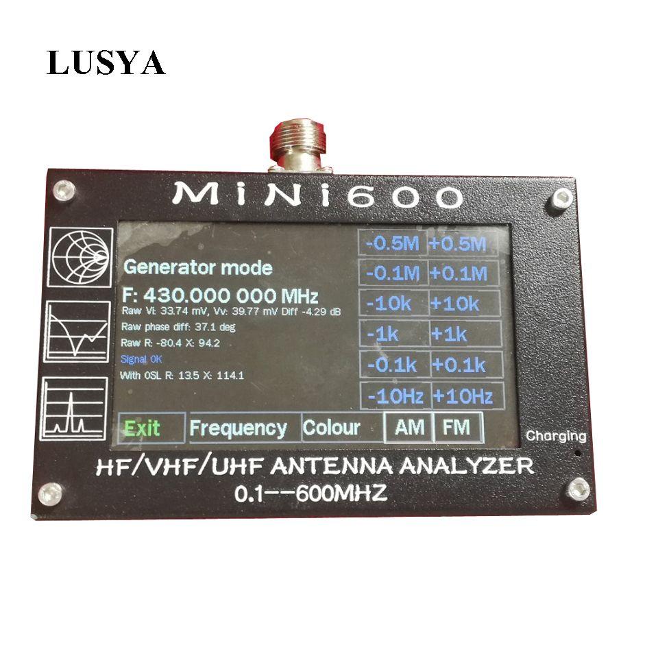 Lusya Mini600 HF VHF UHF Antenna Analyzer 0.1-600MHz SWR Meter 1.0-1999 For Radio 5V/1.5A