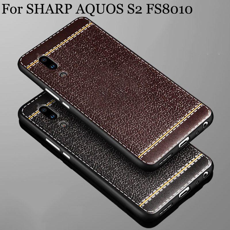 Pour SHARP AQUOS S2 cas Relief dermatoglyphs Souple En Silicone shell FS8010 couverture arrière Pour SHARP AQUOS S 2 cas téléphone couverture