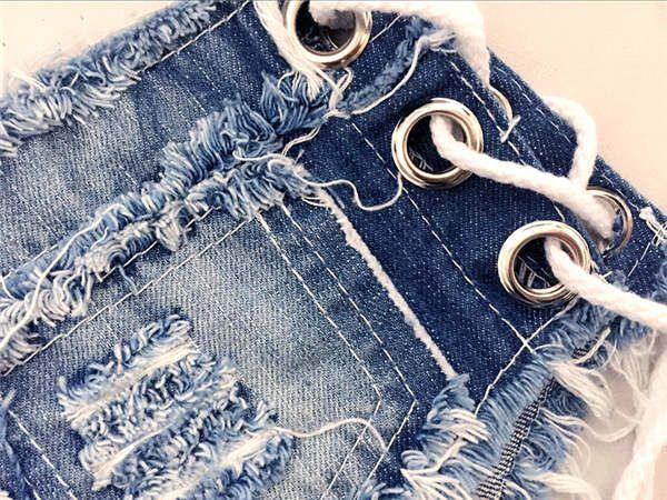 1-4 number 2018Korean fashion night sexy denim strap type super shorts 0515 JM FD43570