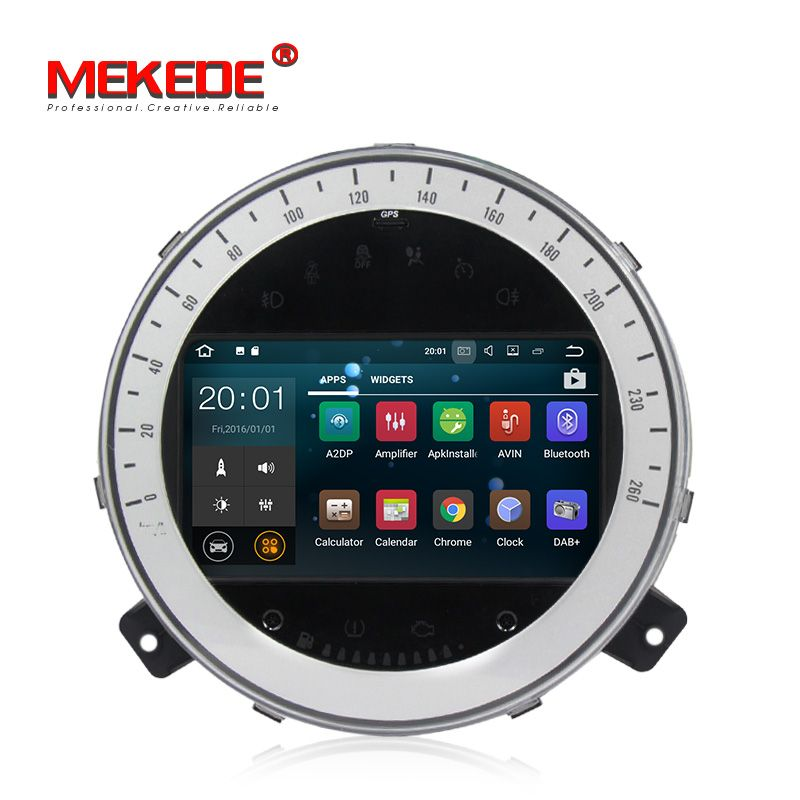 MEKEDE Android 7.1 Quad Core 2GB Car DVD GPS Navigation Player Car Stereo for BMW Mini Cooper 2006-2013 Radio Headunit WIFI