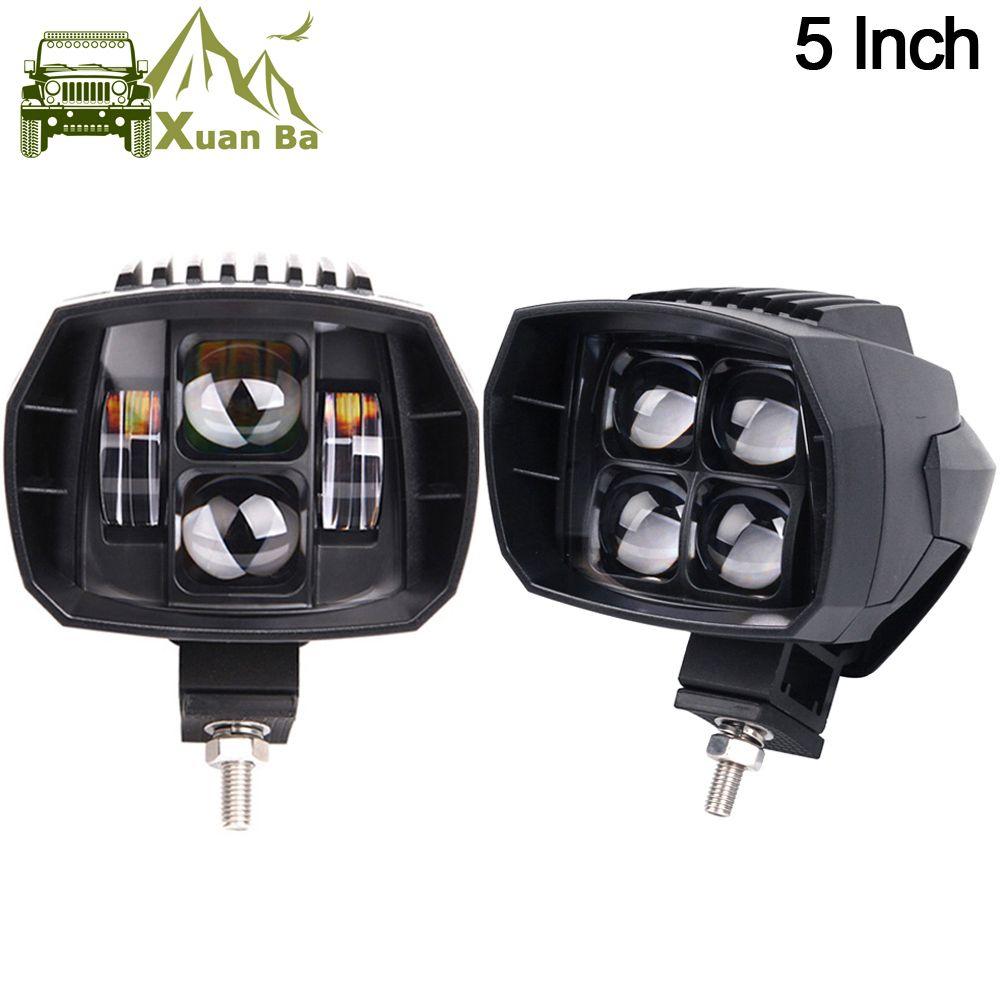 2 Pcs 5 pouces 35 W LED Travail Lumière Haute-Bas Faisceau 12 V 4x4 Offroad Bateau camion SUV ATV Moto Phare Pour Jeep 24 V Lumières de Conduite