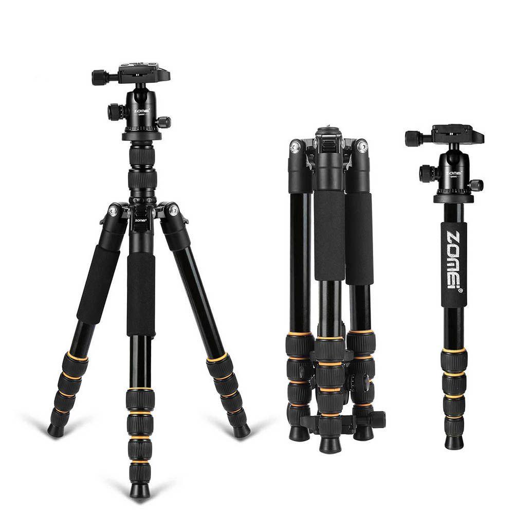 Zomei Q666 trépied professionnel pour appareil photo reflex numérique trépied à rotule monopode Compact appareil photo de voyage trépied pour Canon Nikon Sony SLR