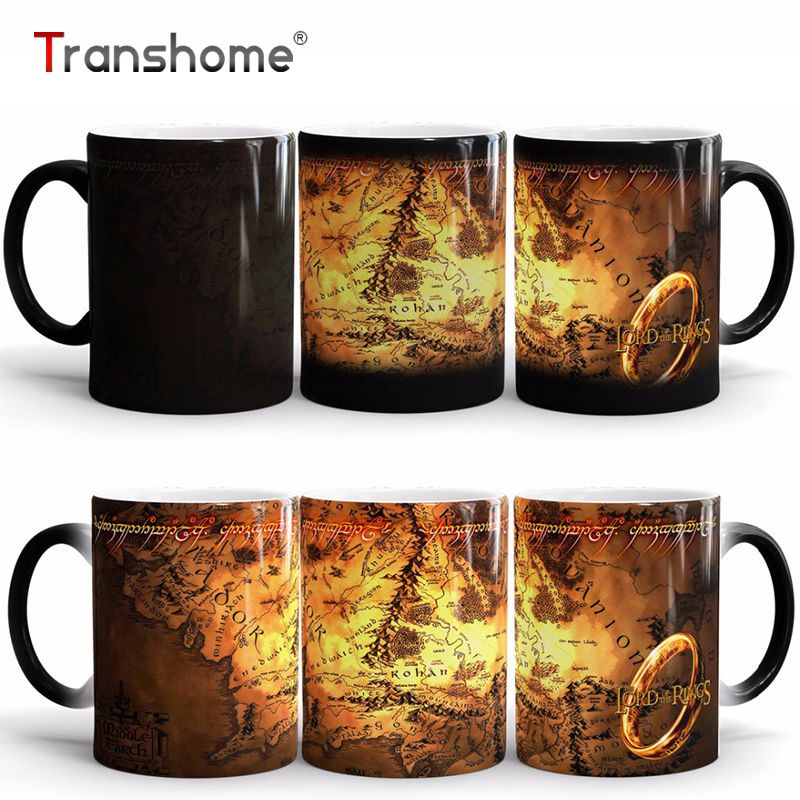 Transhome Coffee Mug The Lord Of Rings Ceramic Heat Sensitive Color Changing Mug <font><b>Magic</b></font> Cups And Mugs For Gift Free Shipping