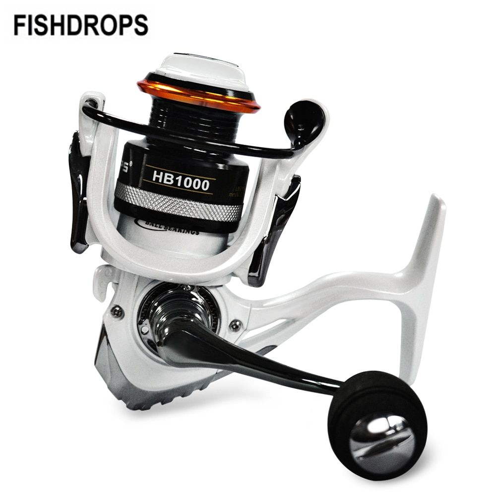 Fishdrops 12+1BB HB1000-7000 Series 5.5:1/5.1:1 Fishing Tackle Spinning Fishing Reel Full Metal Wheel Carretilha with 2 Spools
