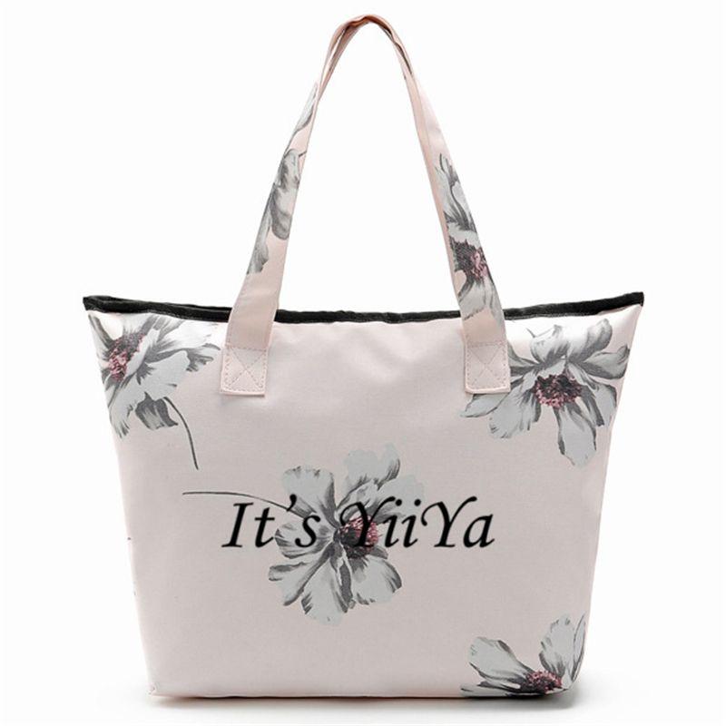 Es yiiya moda plegable flores Bolsas DE LA COMPRA lona mano protección del medio ambiente Bolsas compras hombro ljj004