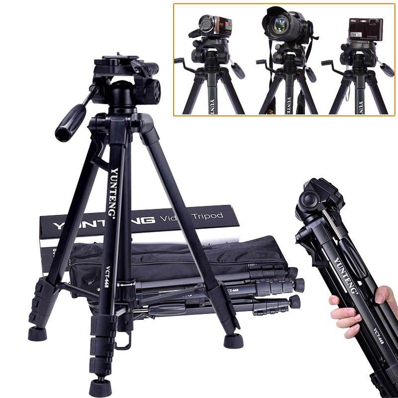 VCT-668 Yunteng nouveau trépied Flexible professionnel pour appareil photo numérique reflex avec sac de transport à tête sphérique
