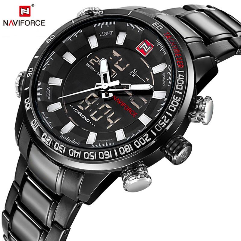 <font><b>NAVIFORCE</b></font> Quartz Wristwatch Mens Watches Top Brand Luxury Sport Military Watch Men Clock Stainless Waterproof relogio masculino