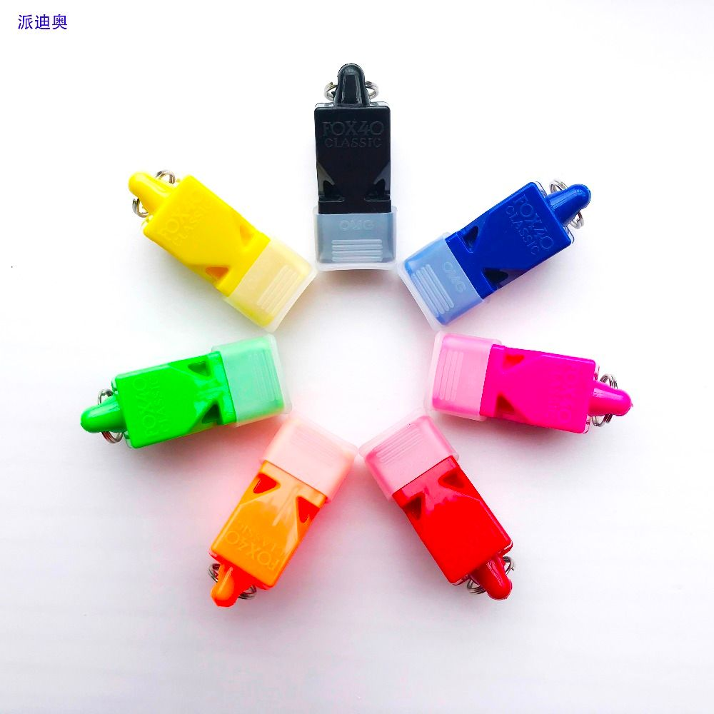 50pcs/Lot FOX40 Referee Classic Whistle Basketball Volleyball Football Tennis Dolphin Whistle Apito With CMG without Canada Logo